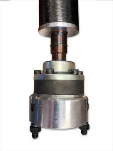 Tapout drive shaft CV
