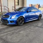 ATS-V blue coupe New York
