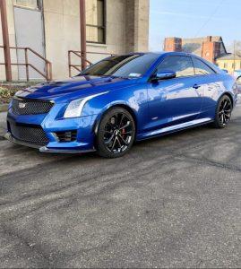 ATS-V blue coupe New York